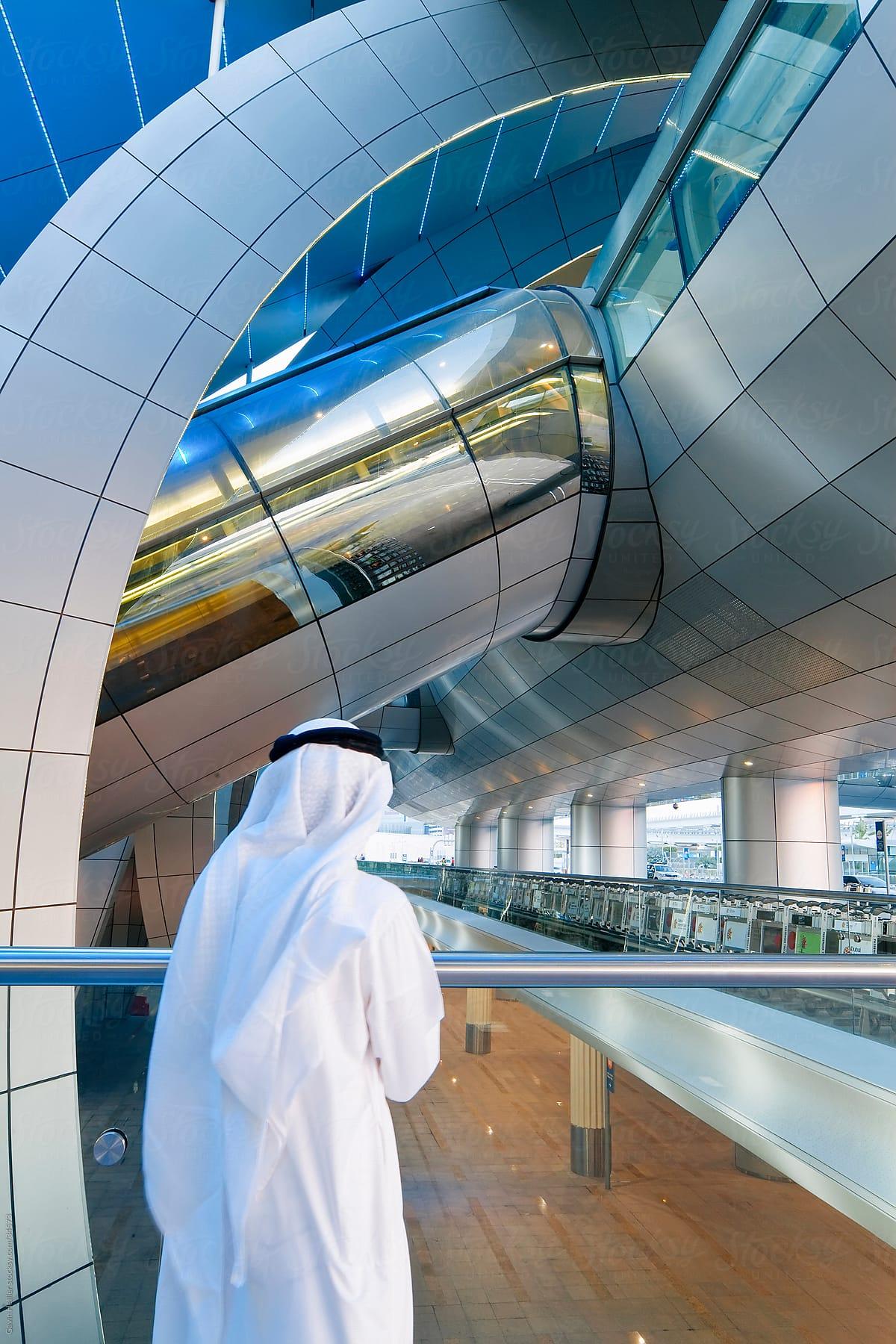 Stock Photo - Stylish Modern Architecture Of Dubai International Airport,  Dubai, UAE, United Arab Emirates