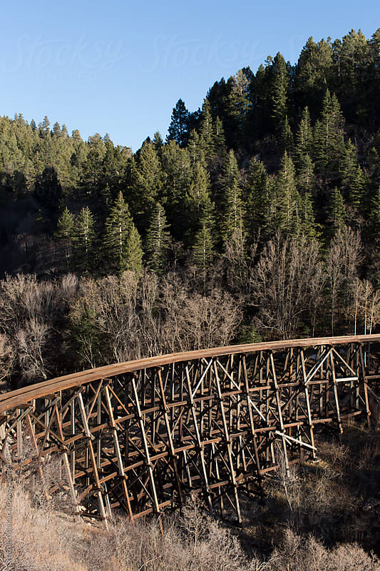 Mexican Canyon Trestle in the Lincoln National Forest, New Mexico by Nicole Mlakar for Stocksy United