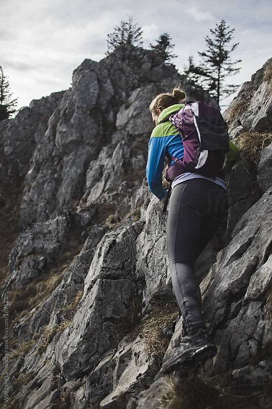 easy climb by Wolfgang Lienbacher for Stocksy United