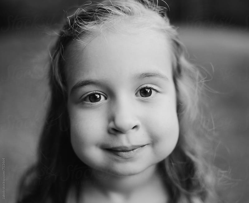 Close up portrait of a beautiful young girl by Jakob for Stocksy United