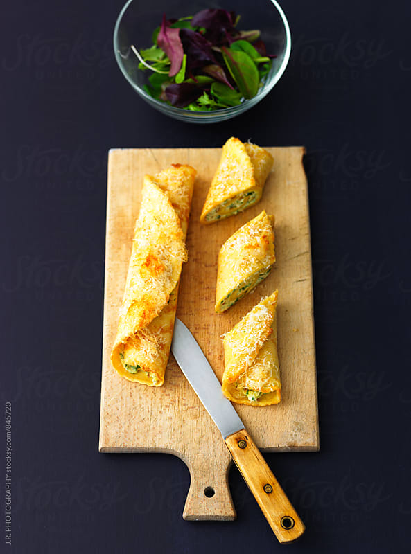 Crespelle with ricotta filling by J.R. PHOTOGRAPHY for Stocksy United