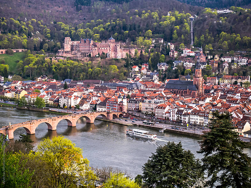 Heidelberg City View with Castle by Andreas Wonisch for Stocksy United