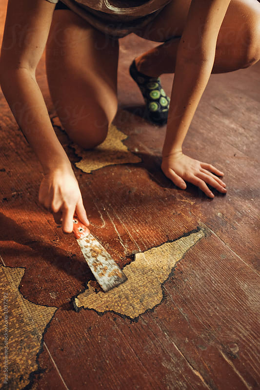 wooden floor by Paul Schlemmer for Stocksy United