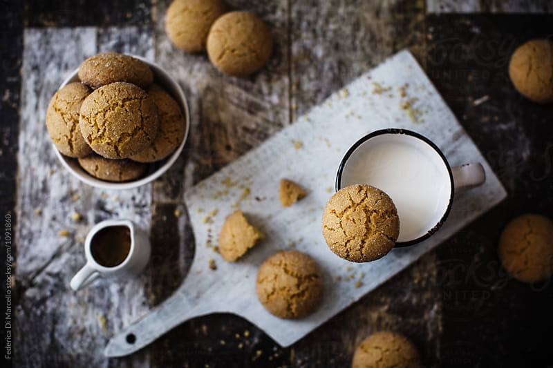 Sponge cookies with yolks by Federica Di Marcello for Stocksy United