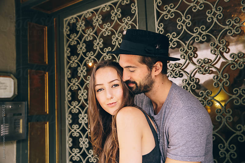 Couple Snuggling by Jayme Burrows for Stocksy United