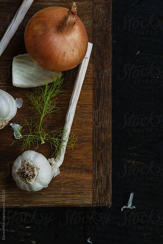Garlic,fennel and onion. by Darren Muir for Stocksy United