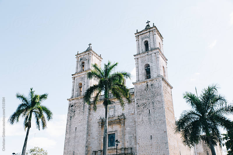 Spanish colonial cathedral in Mexico by Christian Gideon for Stocksy United