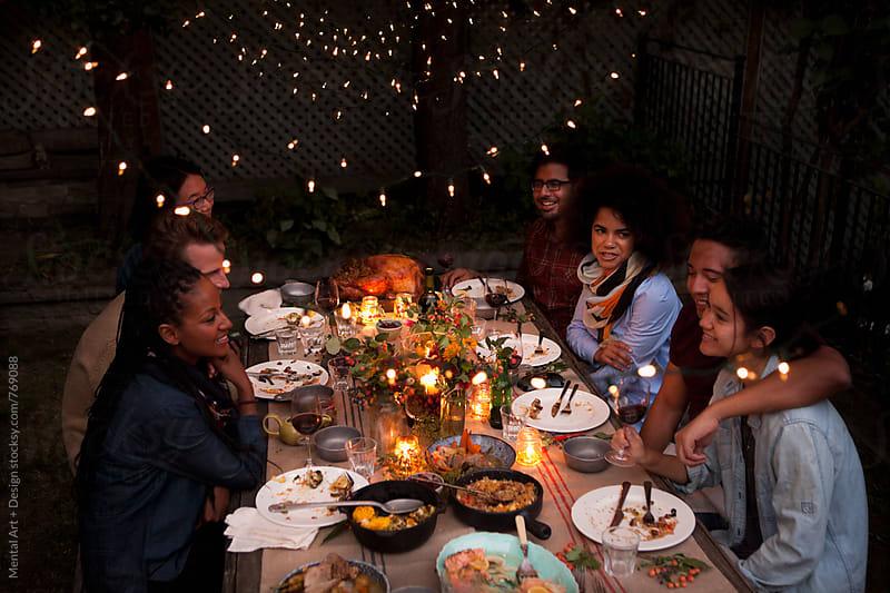 Roast turkey thanksgiving or christmas dinner by Mental Art + Design for Stocksy United