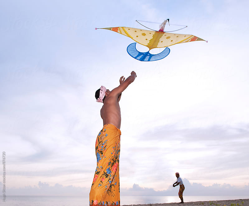 Kite Flying. East Coast. Malaysia. by Hugh Sitton for Stocksy United