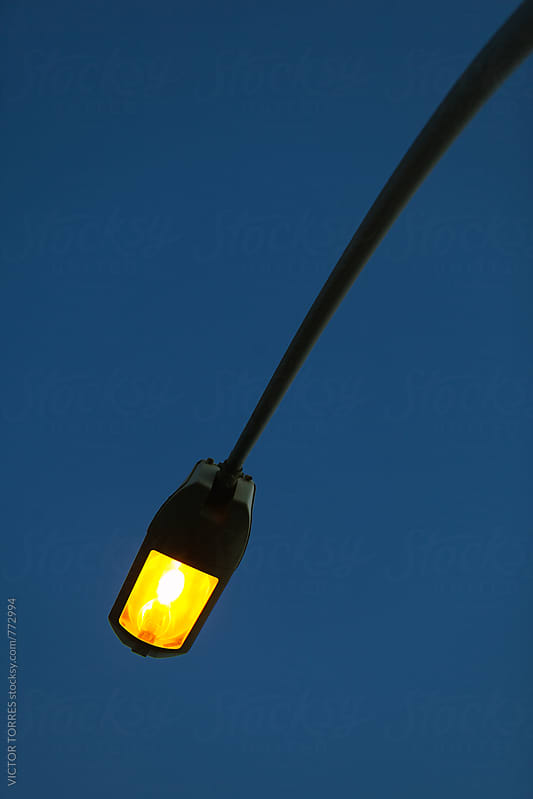Streetlamp Detail in a Summer Night by Victor Torres for Stocksy United