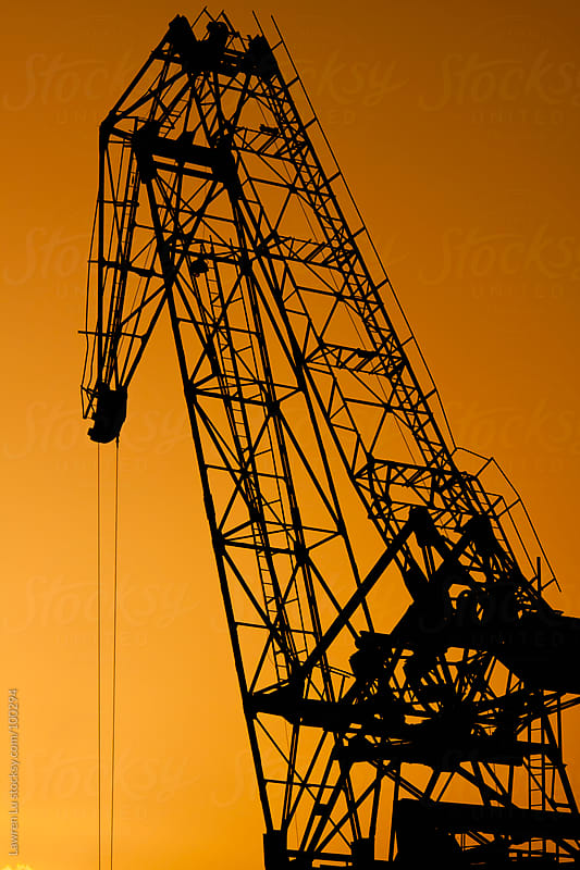 Crane under sunset by Lawren Lu for Stocksy United