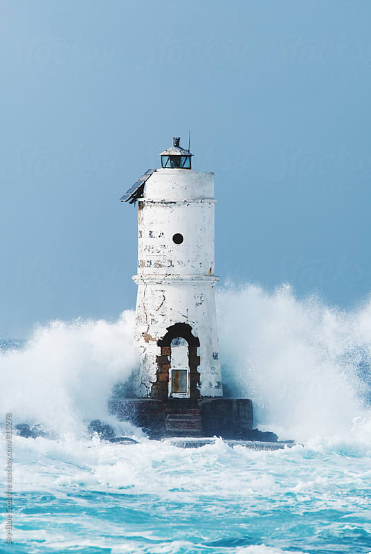 Old Lighthouse in the storm by Luca Pierro for Stocksy United
