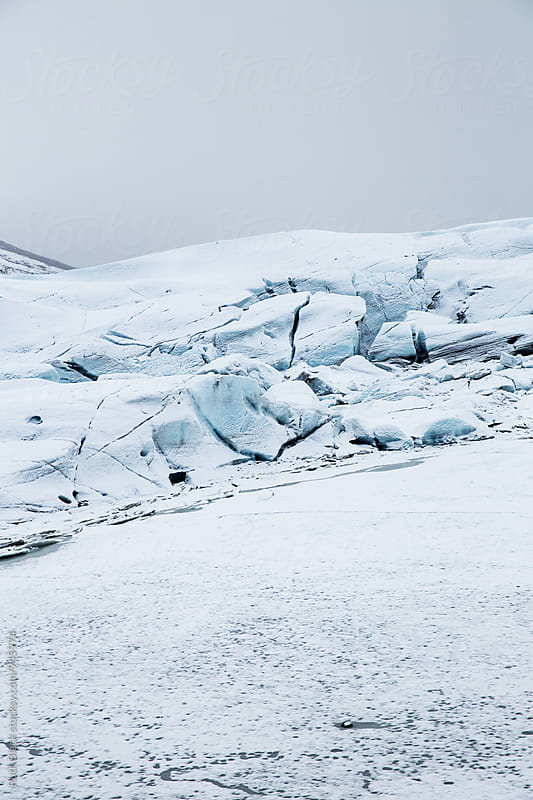 Edge of Svinafell Glacier in Iceland by Ruth Black for Stocksy United