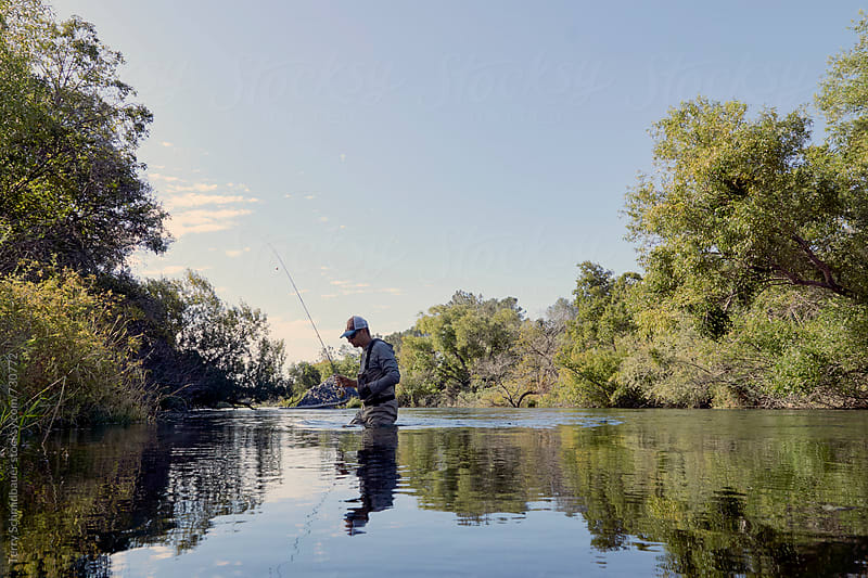 Fly Fishing in Napa County by Terry Schmidbauer for Stocksy United