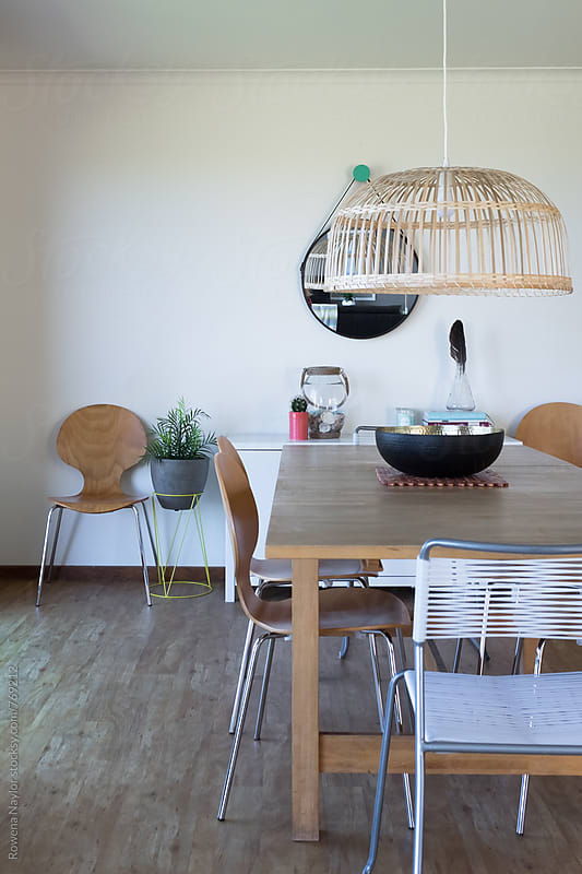 Modern dining room by Rowena Naylor for Stocksy United
