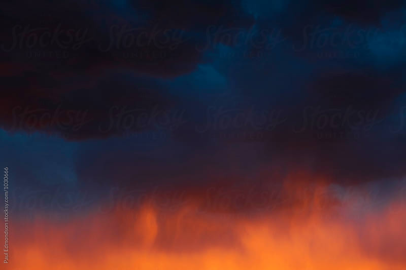 Dramatic clouds and stormy sky at dusk, Utah by Paul Edmondson for Stocksy United