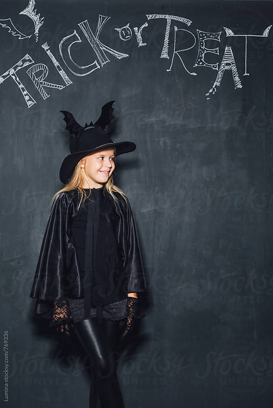 Blonde Girl Dressed as a Witch by Lumina for Stocksy United