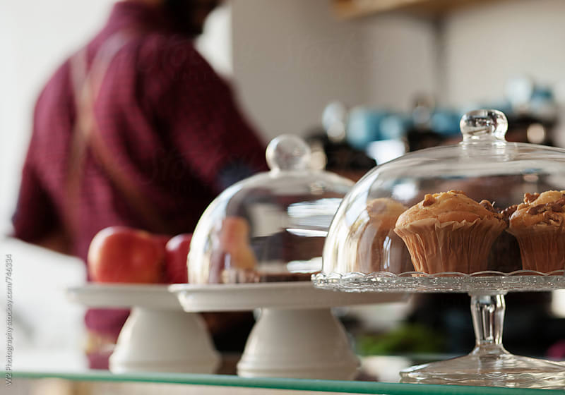 Baked goods on display in a cafe. by W2 Photography for Stocksy United