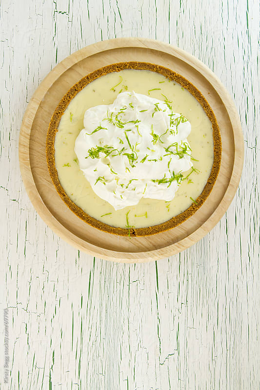 Key Lime Pie with cream and zest by Kirsty Begg for Stocksy United