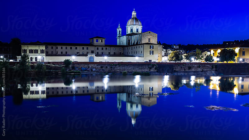 Cathedral reflected in the Amo River by Gary Radler Photography for Stocksy United