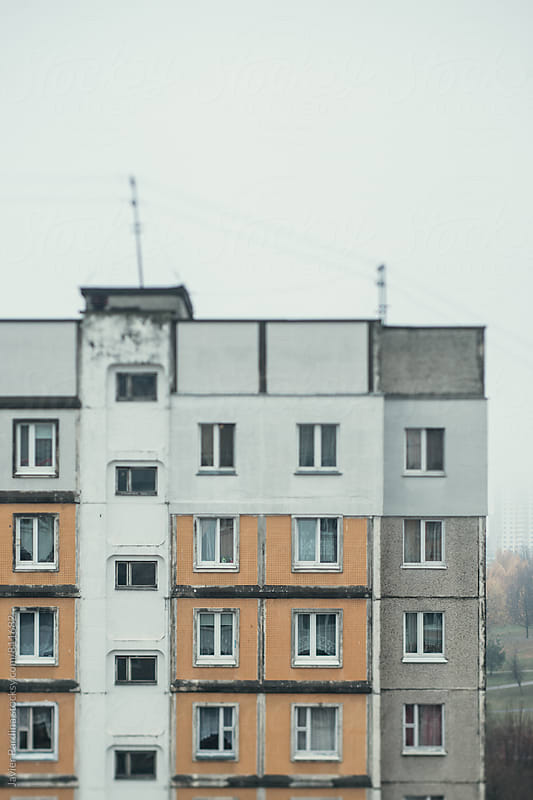 facade of an old house in Minsk by Javier Pardina for Stocksy United