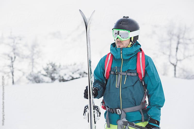 Male Skier Portrait by Wolfgang Lienbacher for Stocksy United