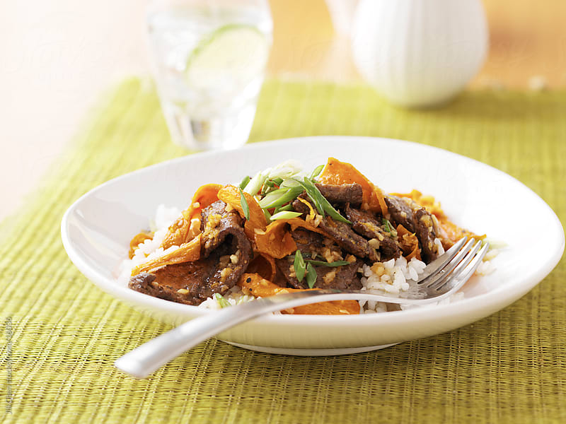 Orange Beef Rice by Jill Chen for Stocksy United