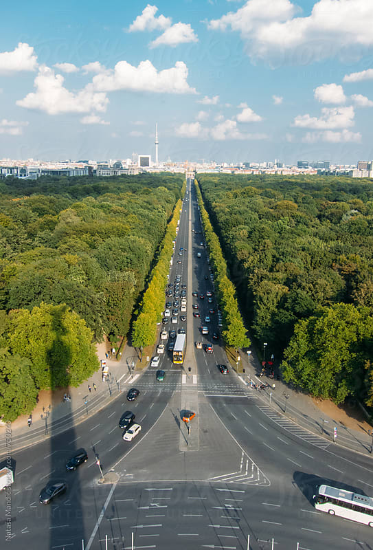 Berlin view from the Victory Column by Nataša Mandić for Stocksy United