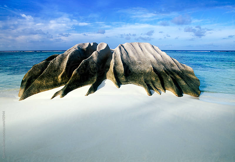 Africa, Indian Ocean, Seychelles, La Digue Island, Anse Source d'Argent Beach by Gavin Hellier for Stocksy United
