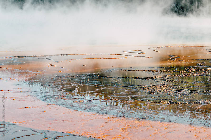 Edge Of Yellowstone Grand Prismatic Spring by Luke Mattson for Stocksy United