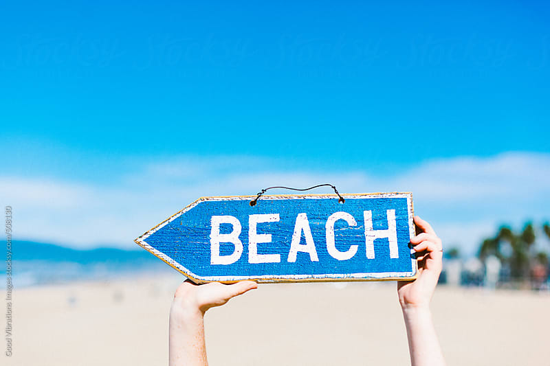 Beach, that way! by Good Vibrations Images for Stocksy United