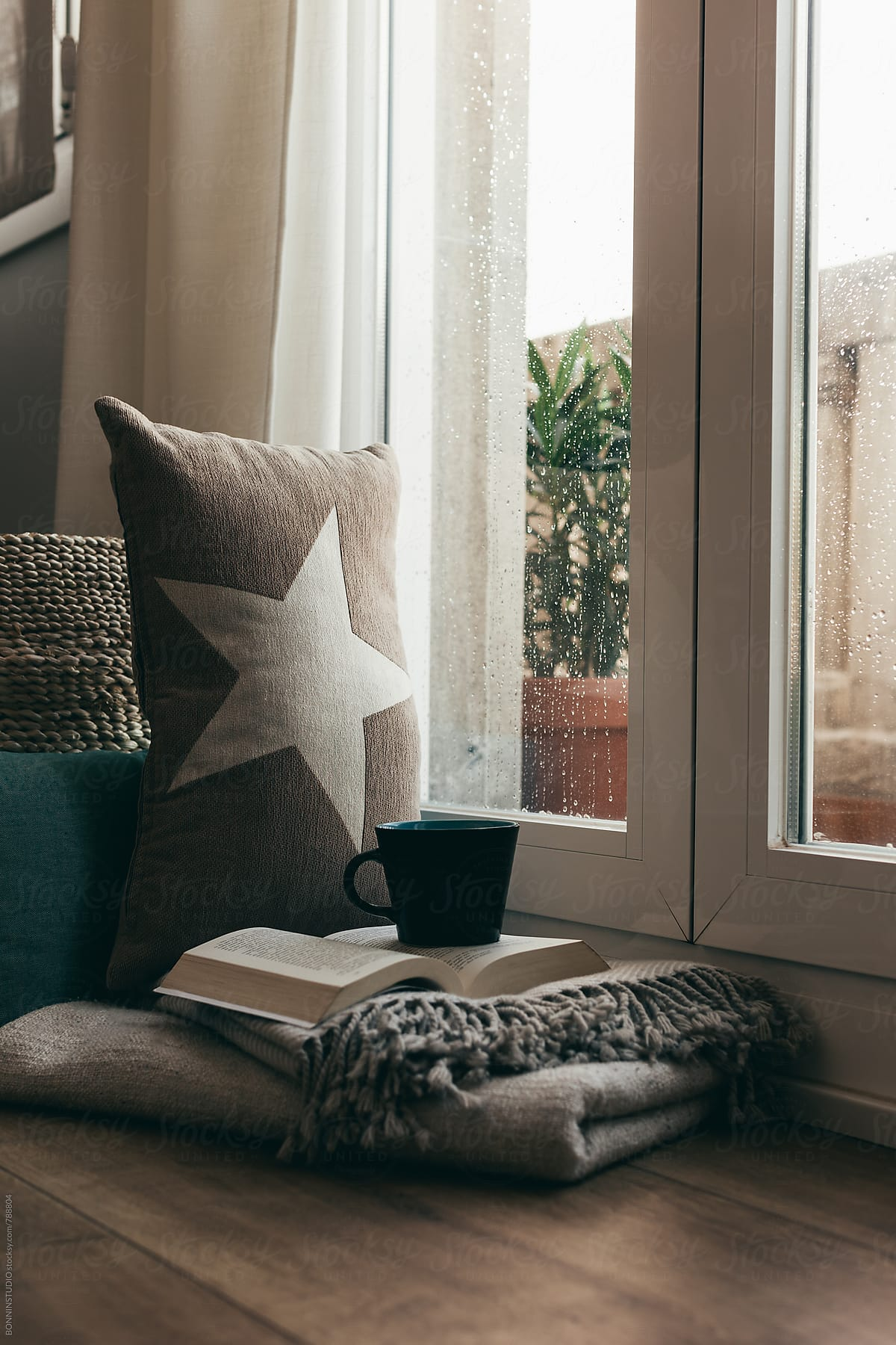 Coffee time in a cozy home on a rainy day. by BONNINSTUDIO ... on riverside home, sunny day home, garden home, easter home, gloomy day home, cloudy day home, fun home, health home, black and white home, paul reubens home, cold home, blu home, farm home,