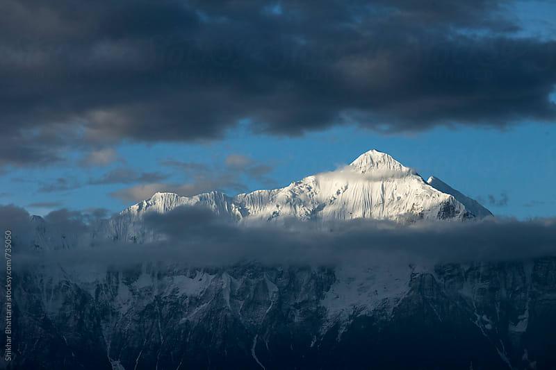 Annapurna, Nilgiri Range seen from the village of Samar in Upper Mustang. by Shikhar Bhattarai for Stocksy United