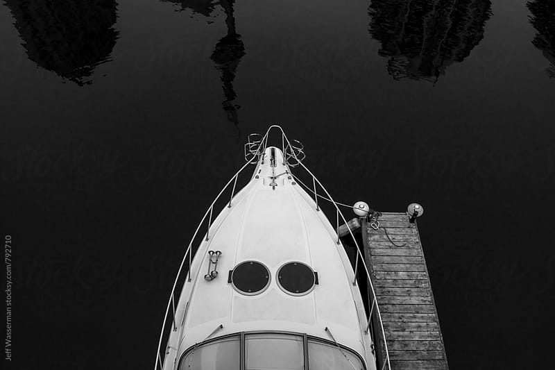 Sailboat at Dock From Above by Jeff Wasserman for Stocksy United