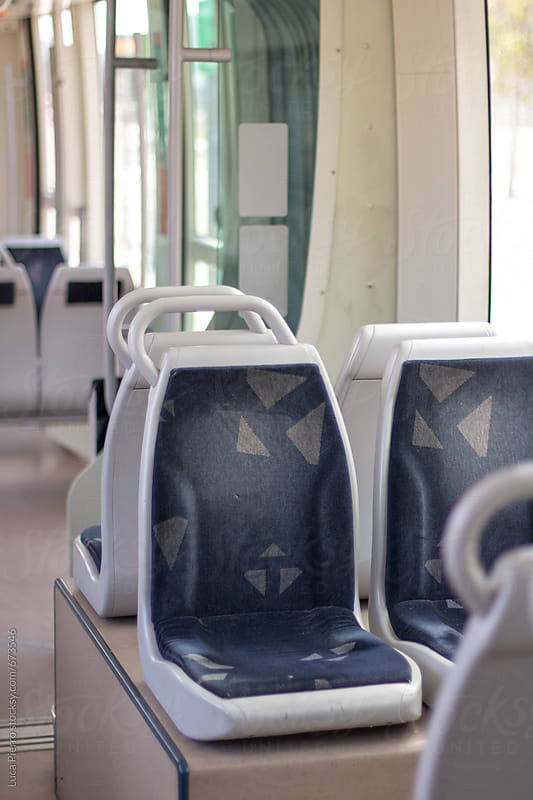 Seats on a city train by Luca Pierro for Stocksy United