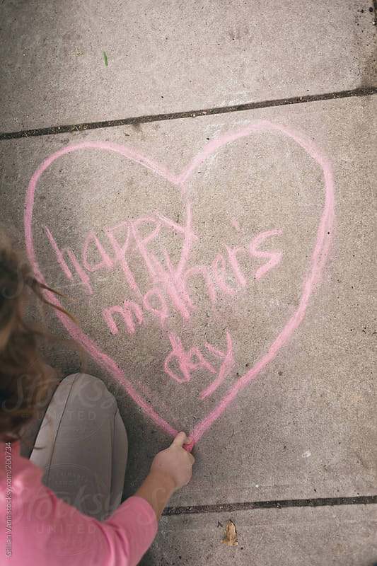 happy mother's day sign in chalk, May 14 2017 in Canada, USA, Australia, NZ, South Africa and ...  by Gillian Vann for Stocksy United