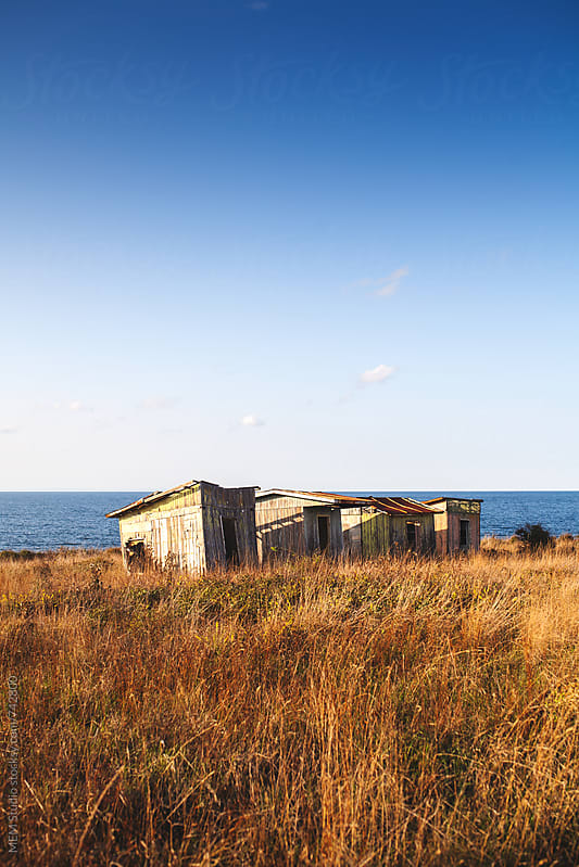 old cabins at the coast of Black Sea by MEM Studio for Stocksy United