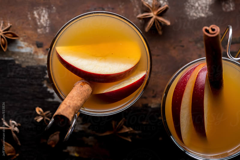 Hot Apple Cider Drink From Above by Studio Six for Stocksy United