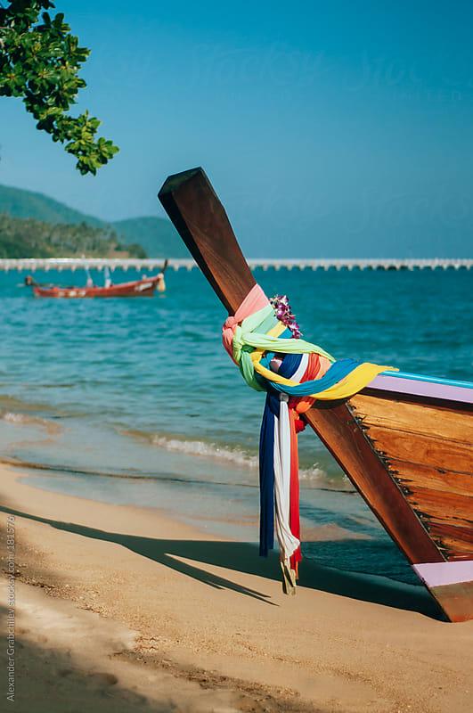 Thai Fishing Boats by Alexander Grabchilev for Stocksy United