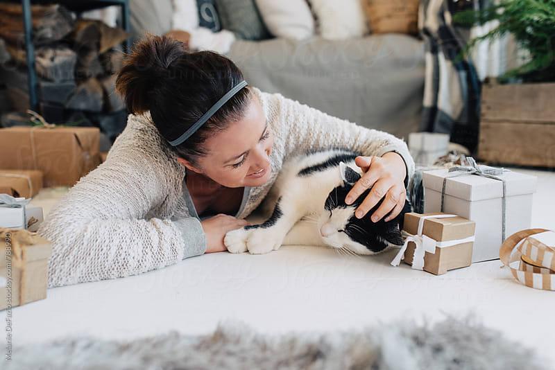 Kitty snuggles by Melanie DeFazio for Stocksy United
