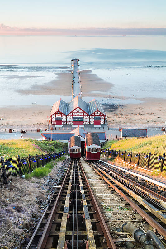 Saltburn Cliff Railway by Marilar Irastorza for Stocksy United