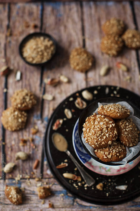 Peanut butter cookies by Federica Di Marcello for Stocksy United