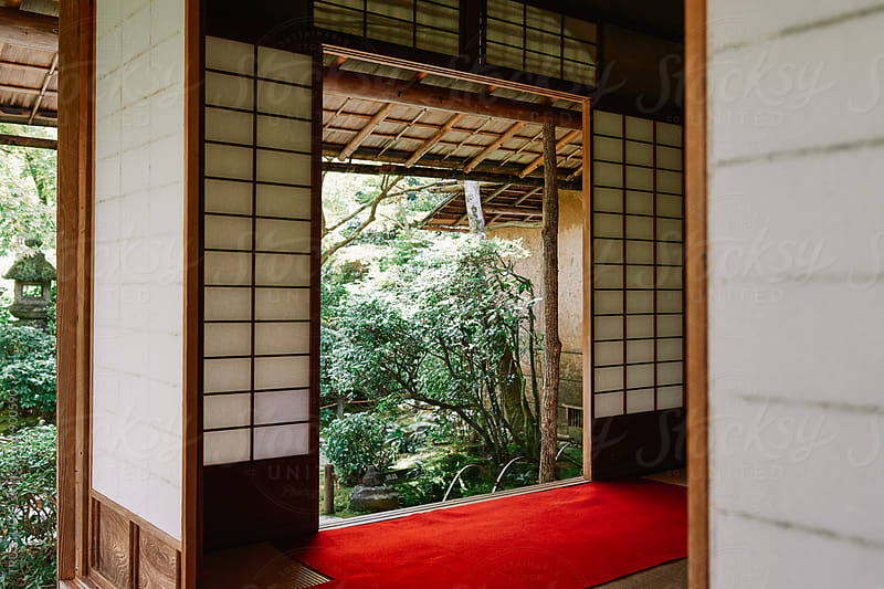 Shoji screen pavilion in Japan by TRU STUDIO for Stocksy United