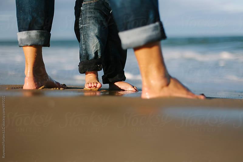 Mother and Son Playing at Beach on Cape Cod by Raymond Forbes LLC for Stocksy United