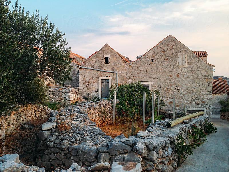 Dalmatian rock houses by Marko Milovanović for Stocksy United