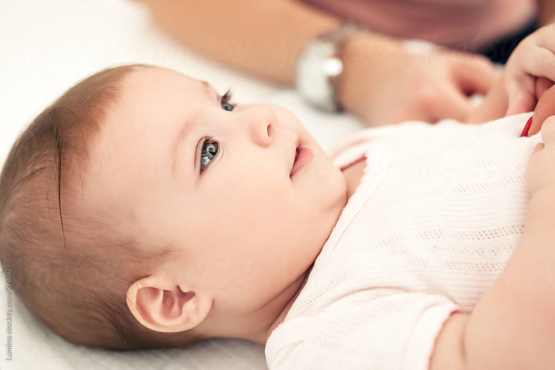 Smiling Baby Girl  by Lumina for Stocksy United