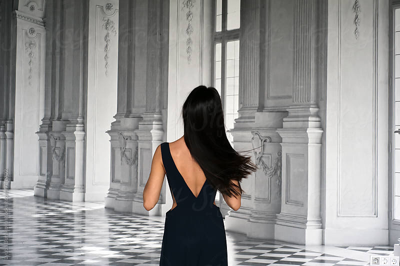 Brunette woman from the back by Liubov Burakova for Stocksy United