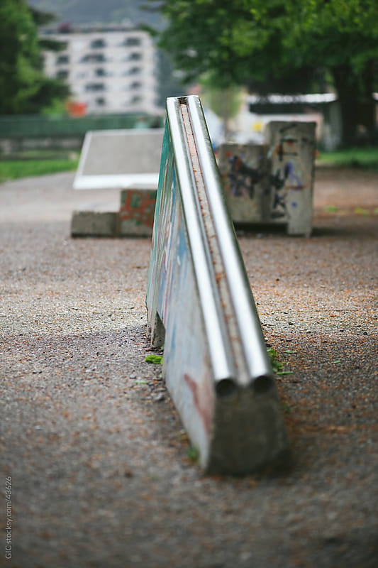Ramp in skateboard park by Simone Becchetti for Stocksy United