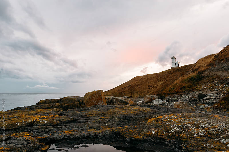 beach lighthouse by unite images for Stocksy United
