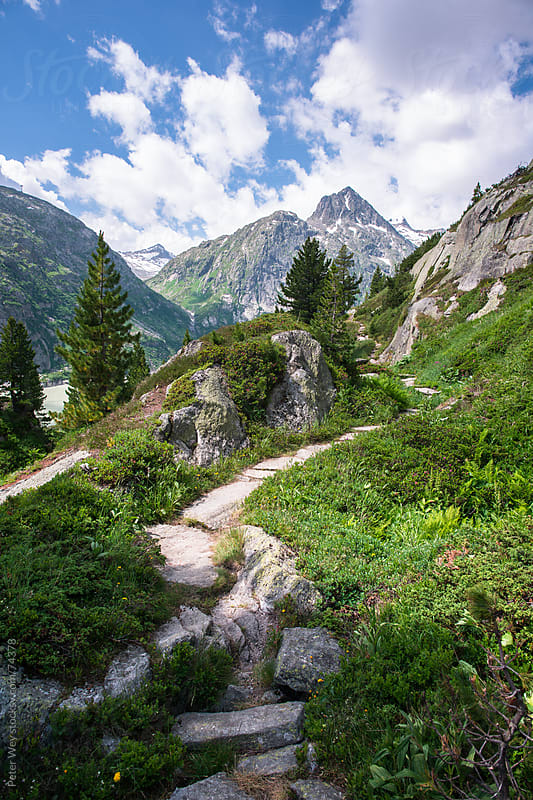 Hiking trail to Lauteraar mountain hut by Peter Wey for Stocksy United